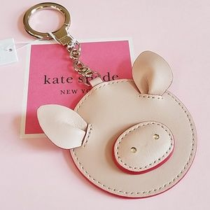 Authentic kate spade Pig Keychain New/tag & pouch